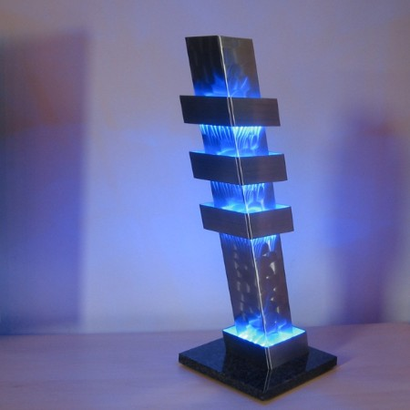 Color column pisa design lamp rvs - Joeniq